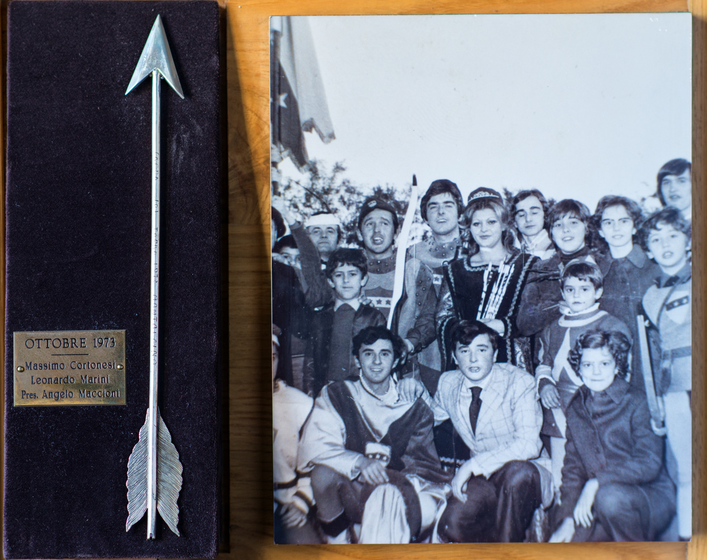 II - Ottobre 1973, Arcieri: Massimo Cortonesi e Marini Leonardo, Presidente: Angelo Maccioni