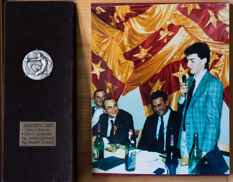 VIII - Agosto 1987, Arcieri: Mauro Biliorsi e Marco Cortonesi, Capitano degli Arcieri: Stefano Lambardi, Presidente: Massimo Losappio