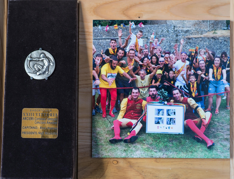 XXIII - Agosto 2015, Arcieri: Tommaso Cortonesi e Amedeo Cencioni, Capitano degli Arcieri: Andrea Ricci, Presidente: Nicoletta Nafi